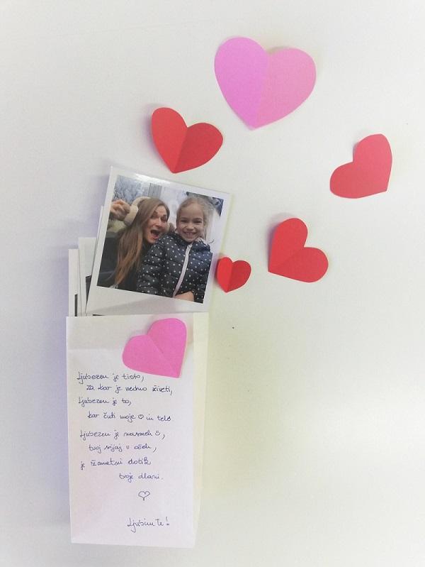 Napiši pismo za valentinovo.
