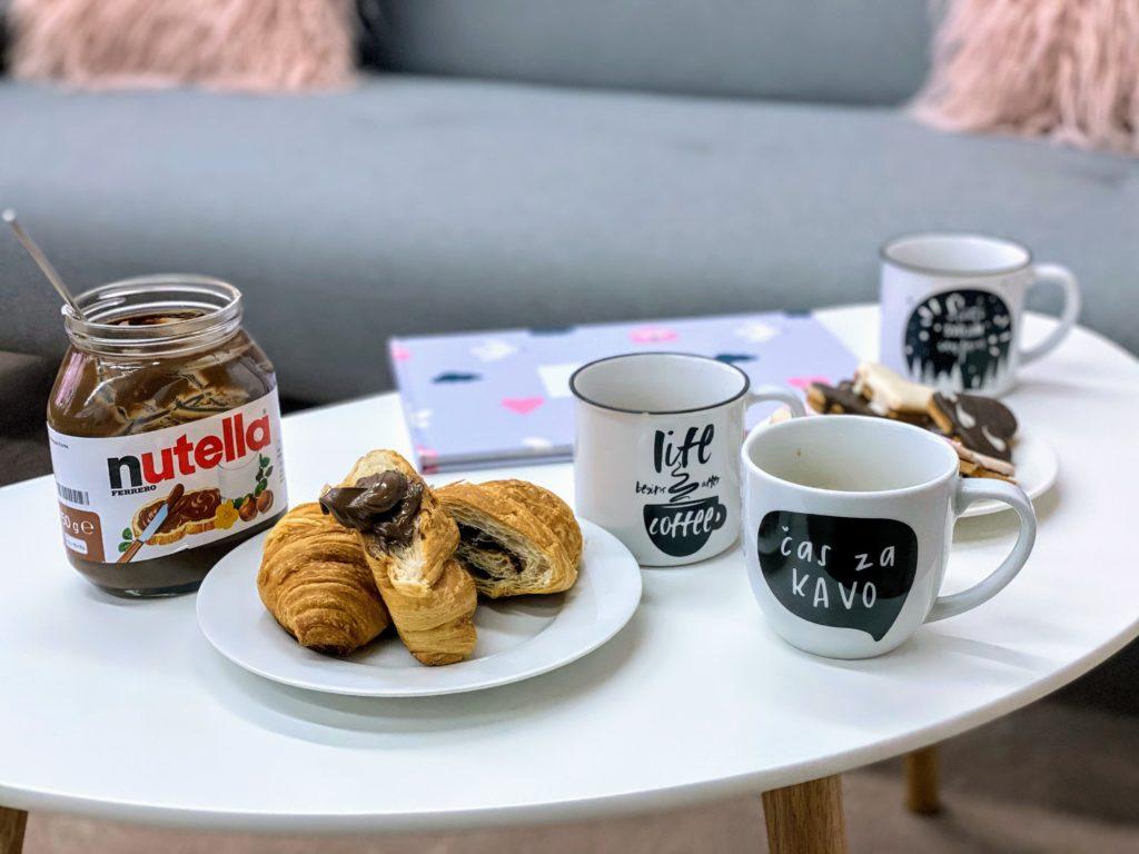 nutella, barátom, kávé, desszert, desszertje, süti, sütit, meglepetés