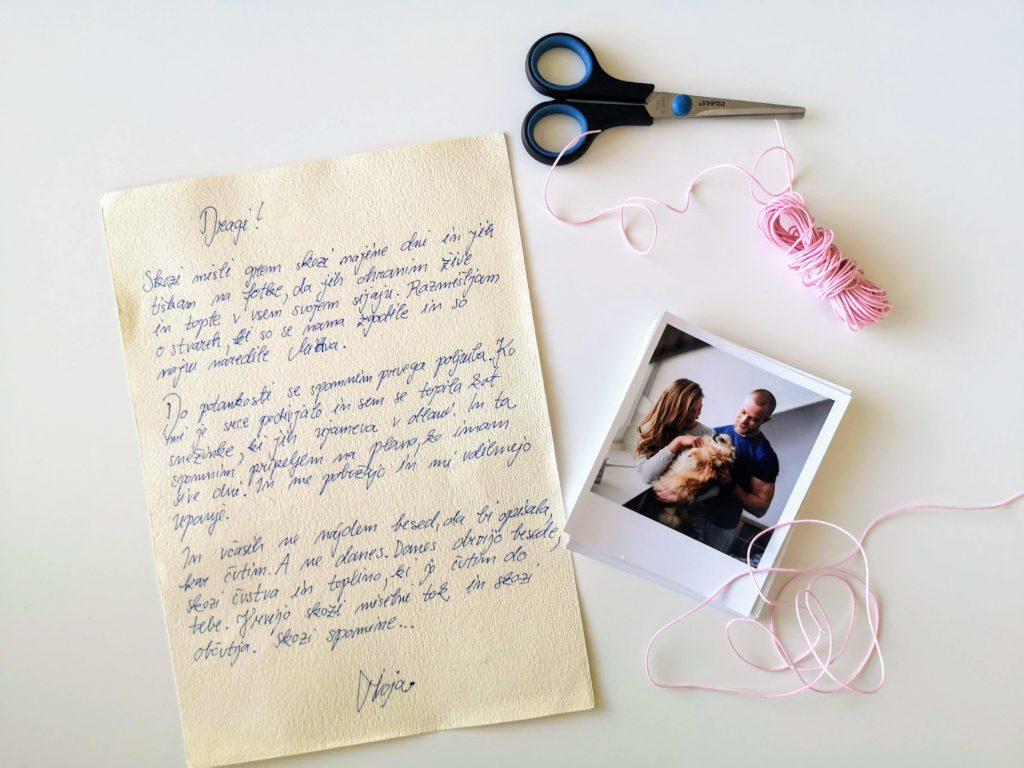 pismo, prijateljica, ljubezen