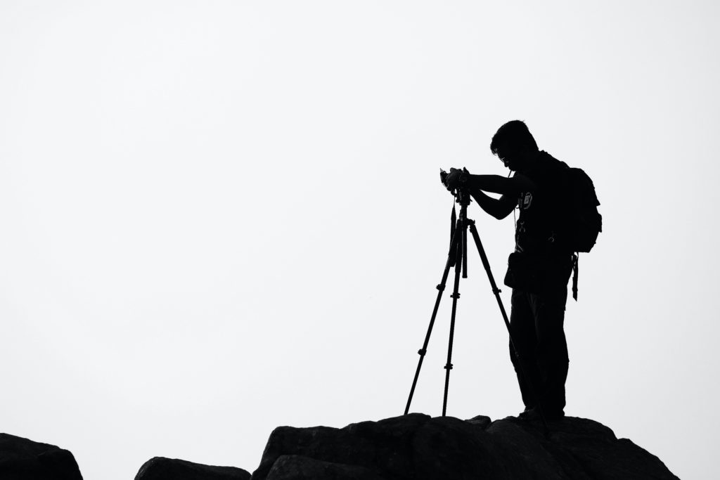 fotograf, stativ