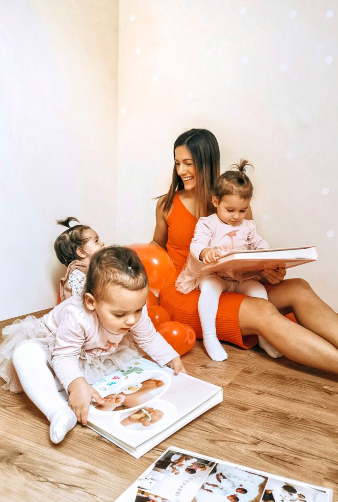 fotoknjiga, spomini, mamica z otroki
